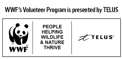 WWF's Volunteer Program is presented by TELUS